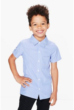 Boys Striped Short Sleeved Shirt