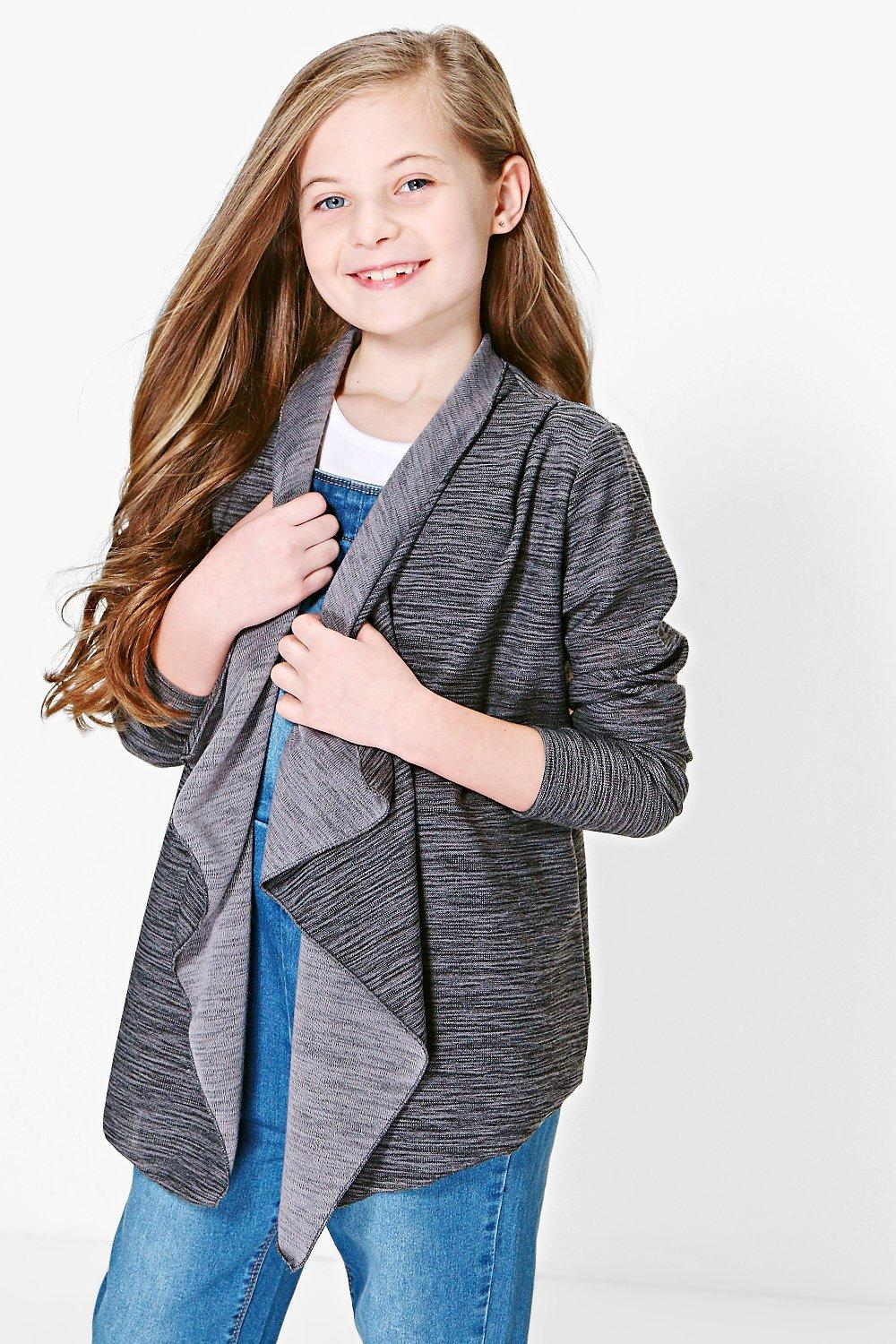 Girls Waterfall Cardigan | Boohoo