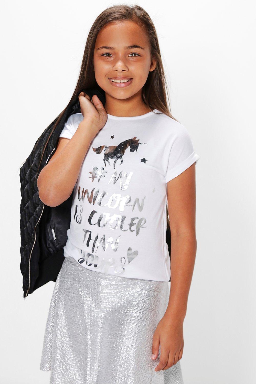 Product photo of Unicorn tee white