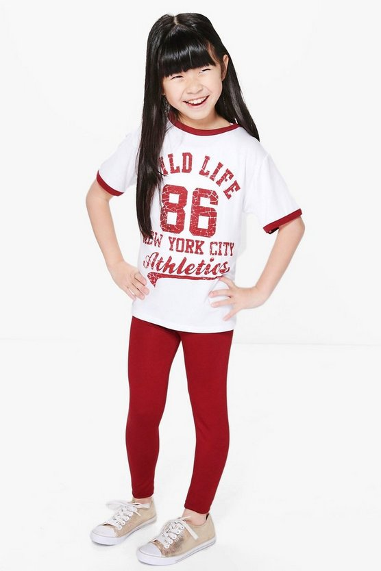 Girls Slogan Tee & Legging Set