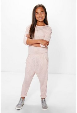 Girls Ribbed Jumpsuit
