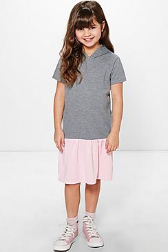 Girls Frill Hem Sweat Dress
