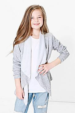 Girls Knitted Waterfall Lightweight Jacket