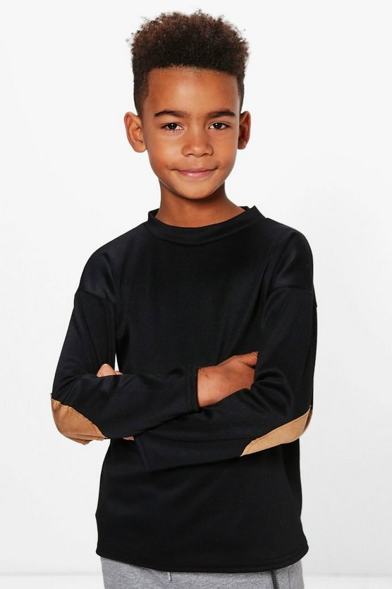 Boys Suedette Patch Jumper