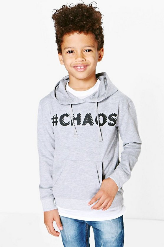 Boys Chaos Slogan Sweat Top