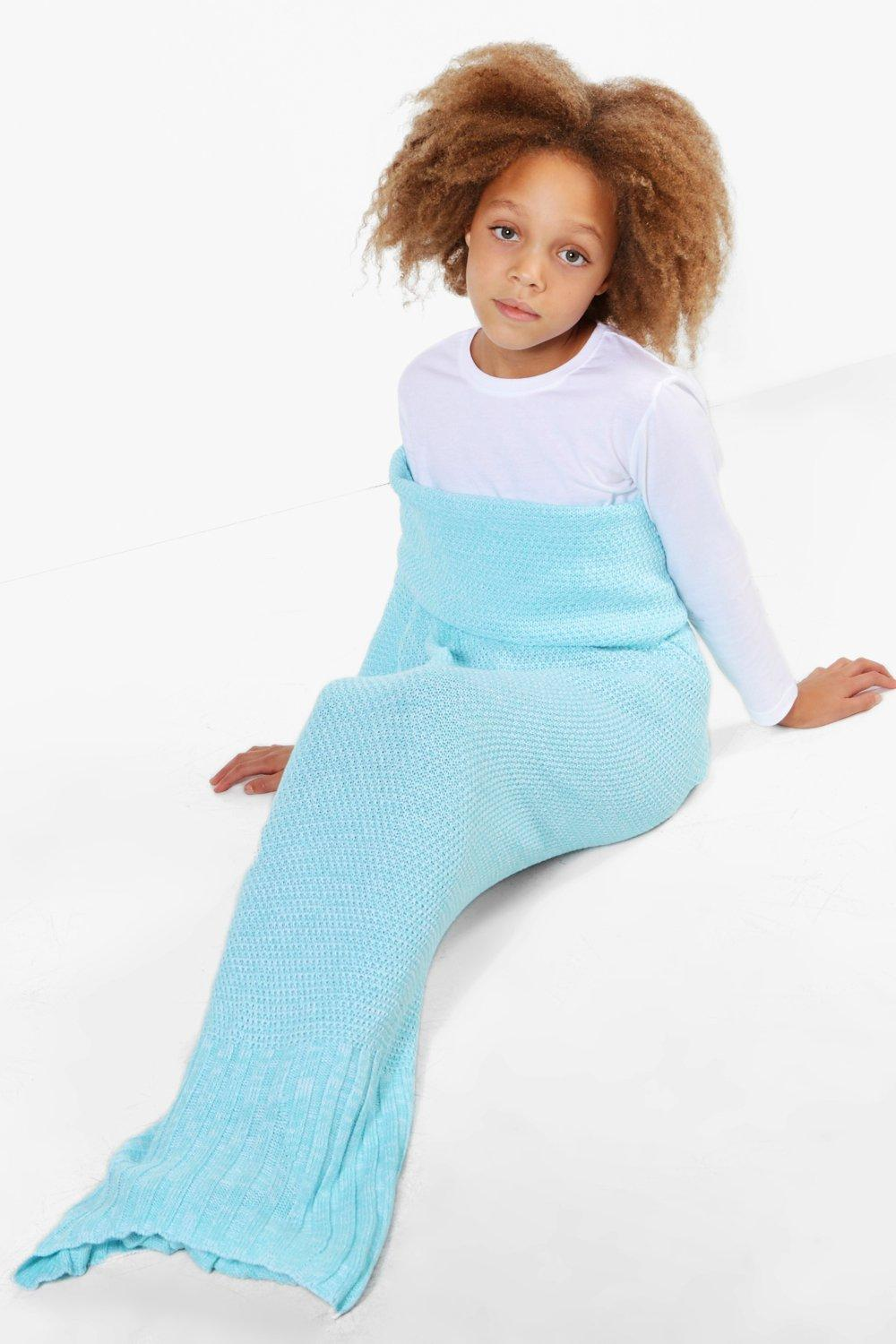 Mermaid Tail Blanket - aqua - Girls Mermaid Tail B