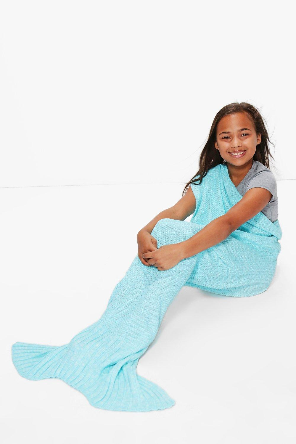 Mermaid Tail Blanket - turquoise - Girls Mermaid T