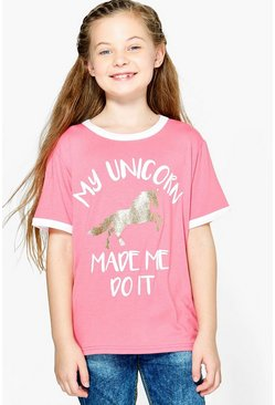 Girls My Unicorn Made Me Do It Tee
