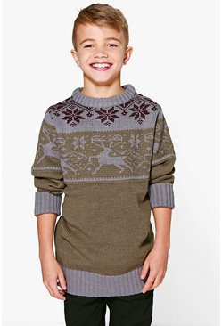 Boys Knitted Winter Jumper