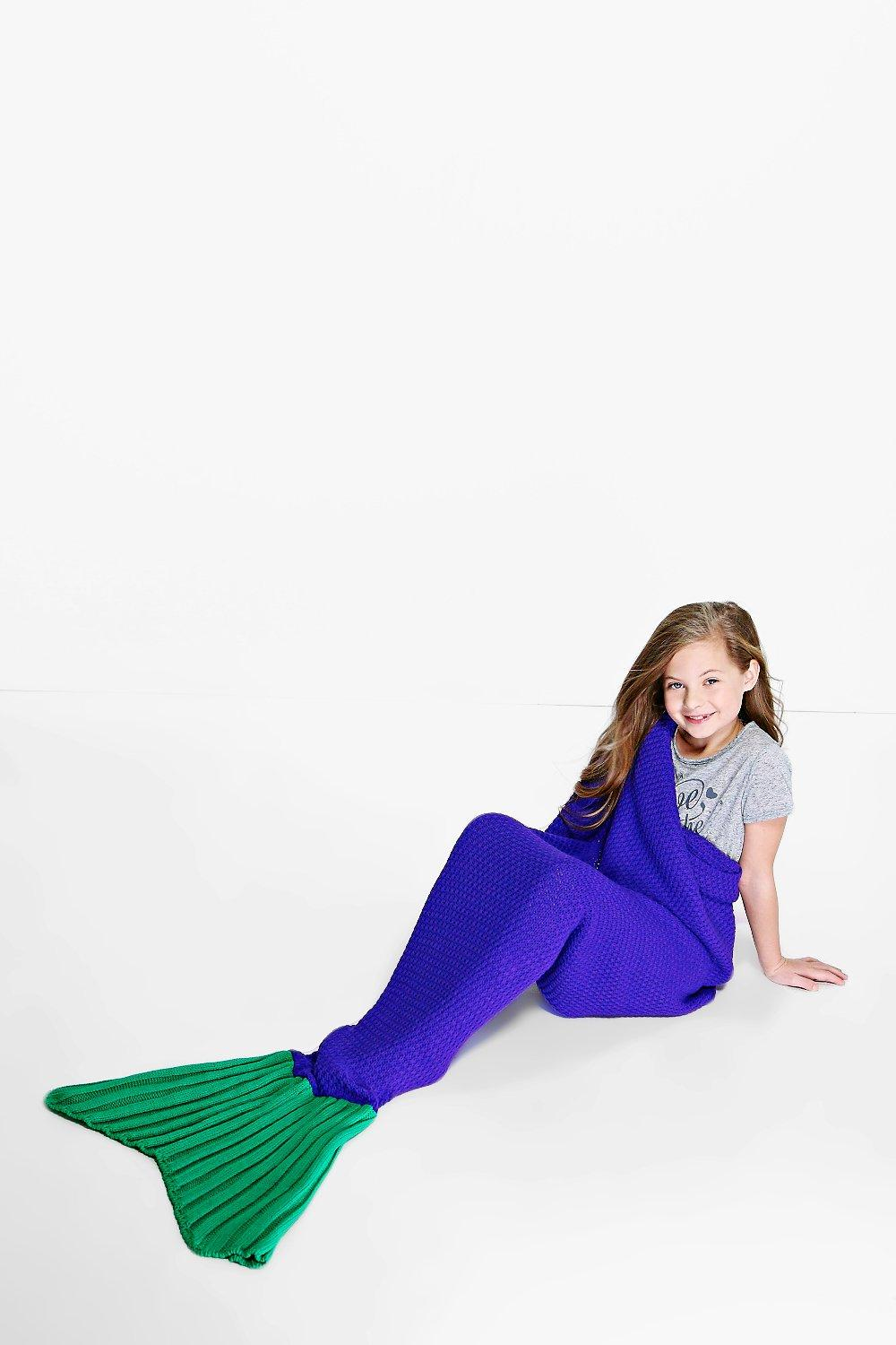Mermaid Tail Blanket - purple - Girls Mermaid Tail