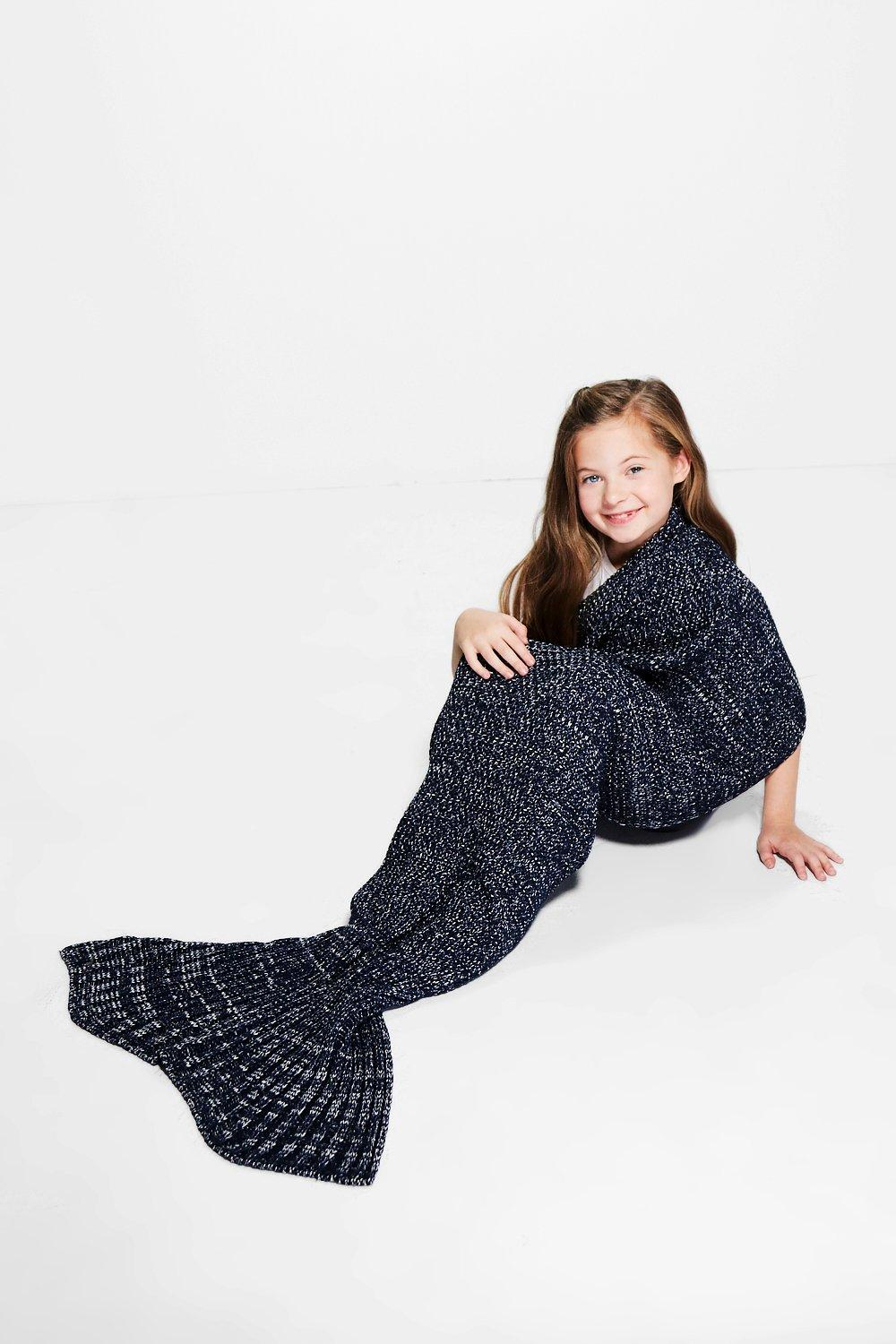 Mermaid Tail Blanket - navy - Girls Mermaid Tail B