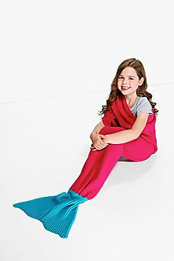 Girls Contrast Tail Mermaid Blanket