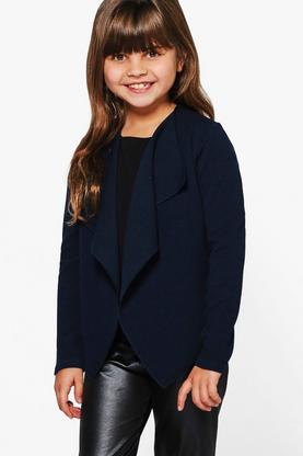 Girls Waterfall Crepe Blazer