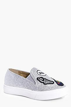 Girls Patch Detail Skater Shoe