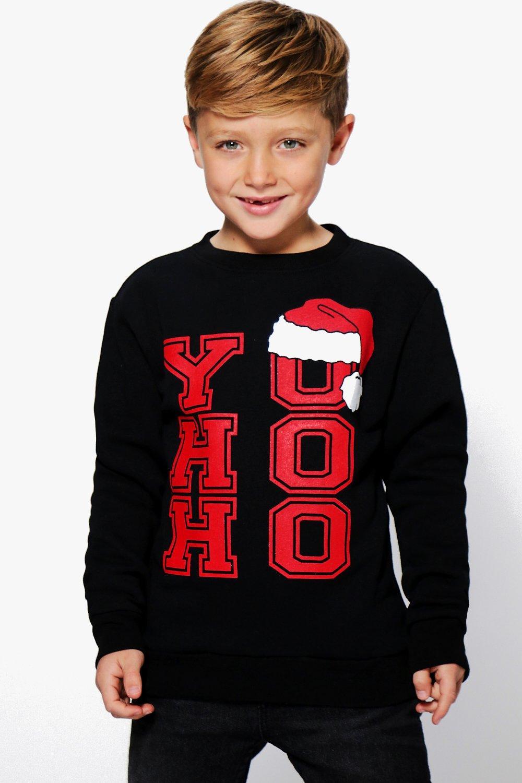 Product photo of Yo ho ho christmas jumper black