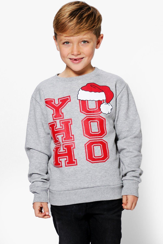 Product photo of Yo ho ho christmas jumper grey