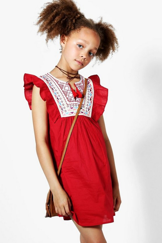 Girls Embroidered Sun Dress