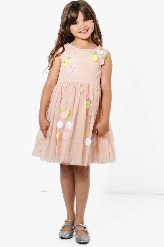 Girls Boutique Floral Tutu Dress