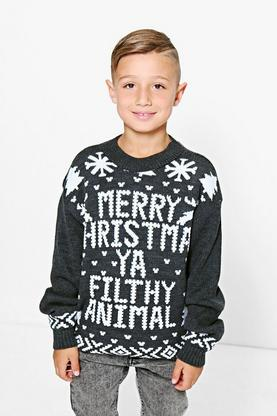 Boys Merry Christmas Jumper