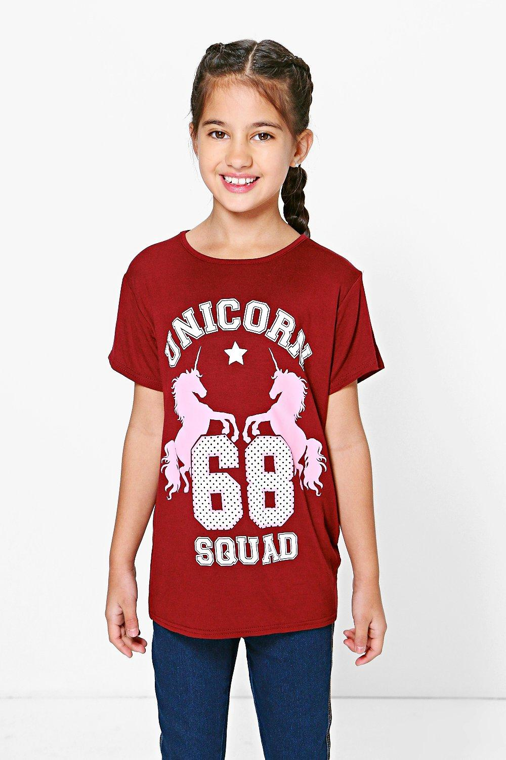 Product photo of Oversized unicorn tee berry