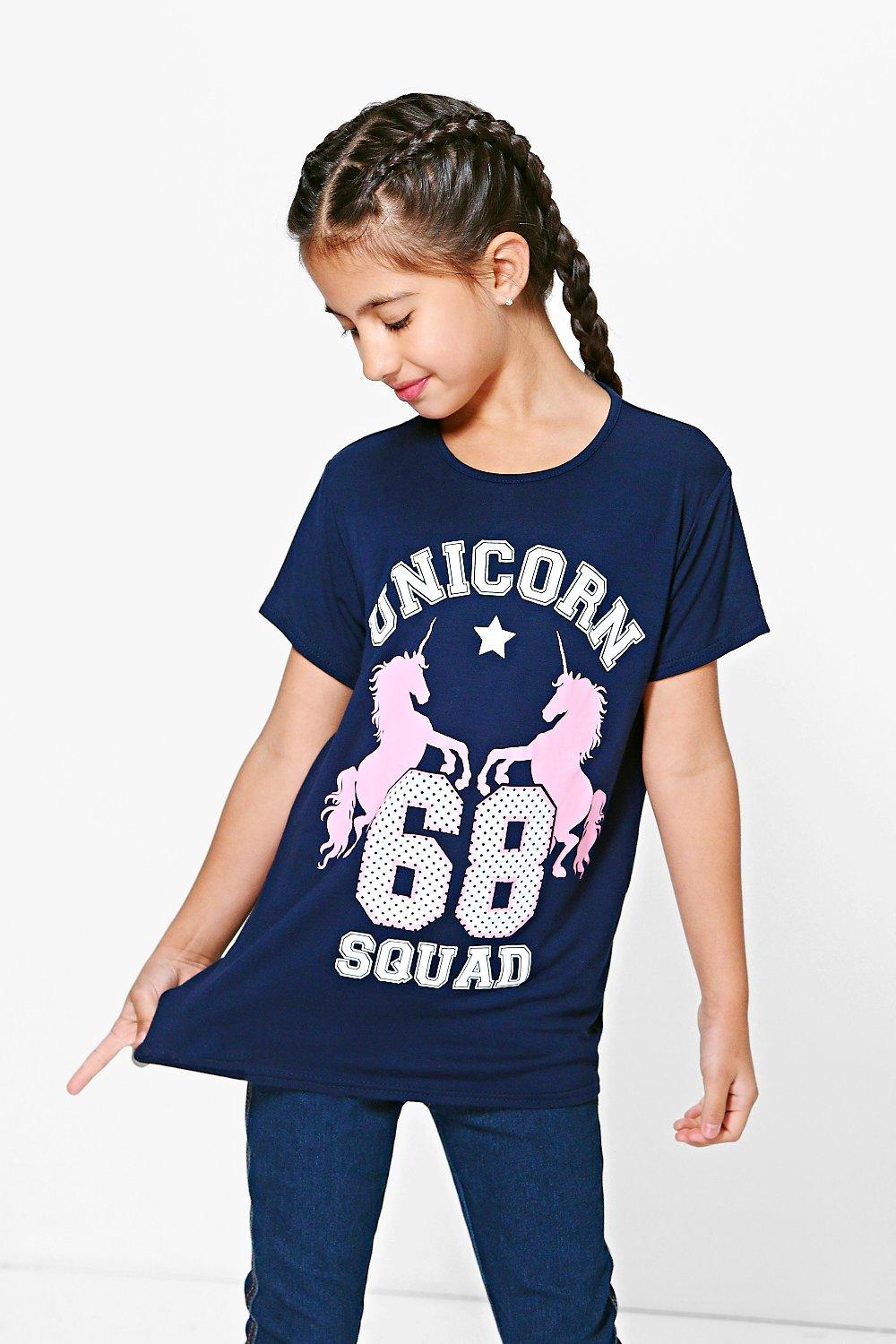 Product photo of Oversized unicorn tee navy