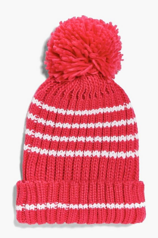 Girls Knitted Pom Pom Hat