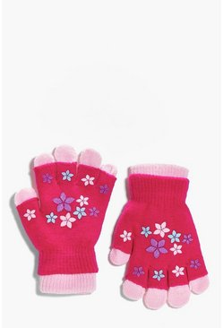 Girls Magic Glove With Rubber Print
