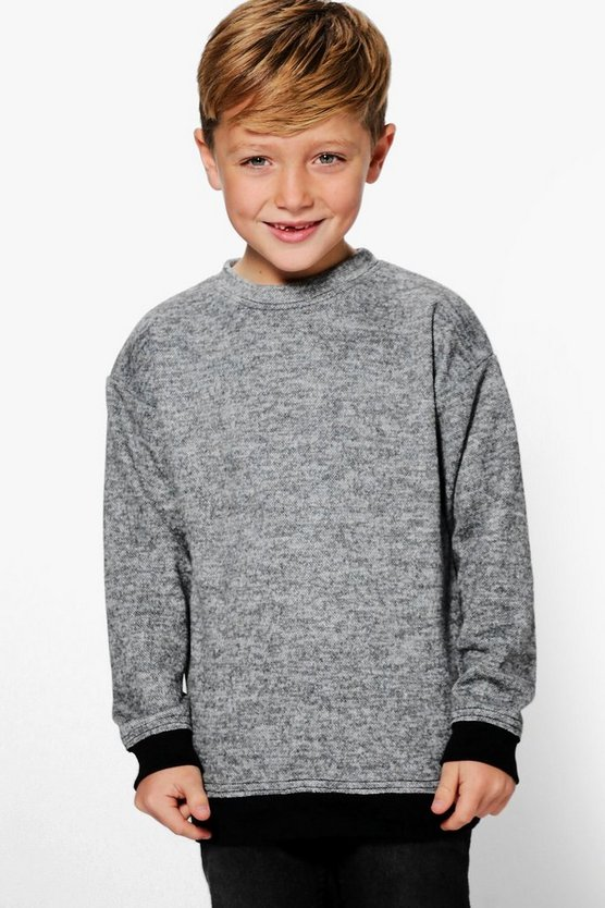 Boys Longline Knitted Sweat