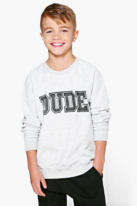 Boys Dude Sweat Top