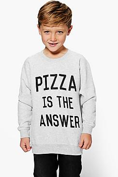Boys Pizza Is The Answer Sweat Top