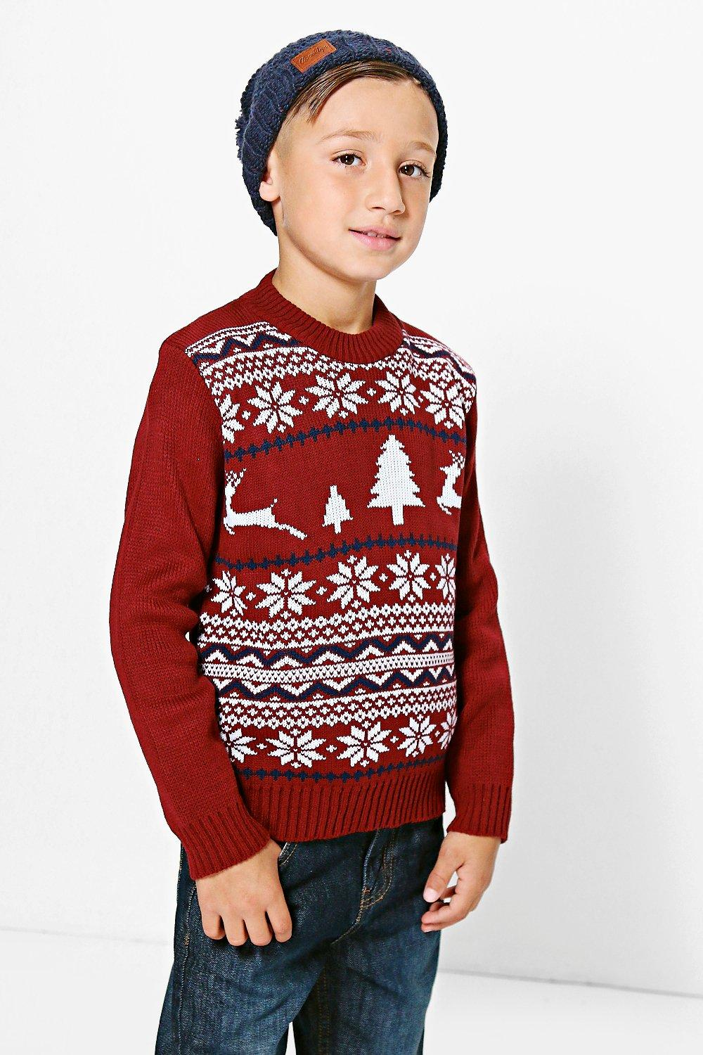 Boys Fairisle Christmas Jumper