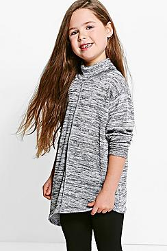 Girls Roll Neck Glitter Jumper & Legging Set