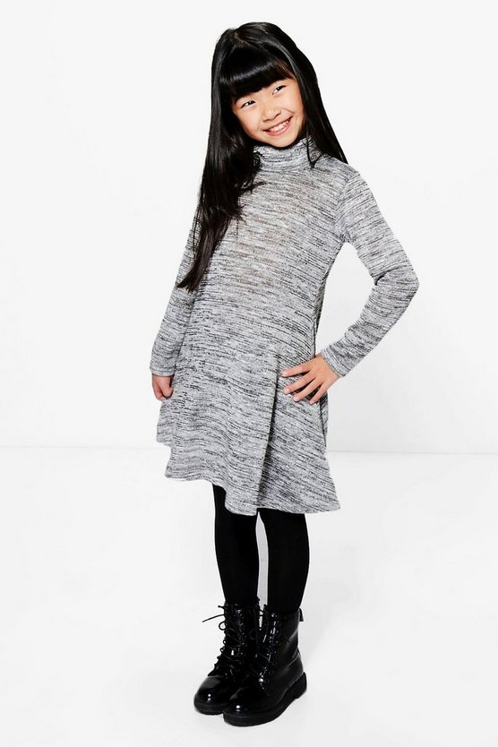 Girls Roll Neck Swing Dress