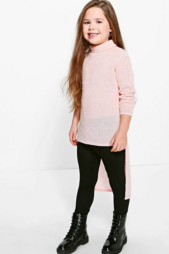 Girls Dipped Hem Jumper & Legging Set