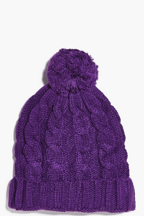 Girls Pom Pom Hat