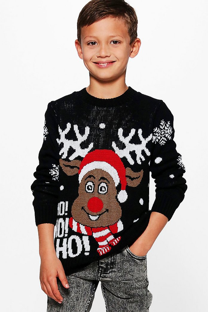 Boys Rudolph Christmas Jumper