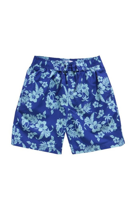 Boys Hawaiian Print Swim Shorts
