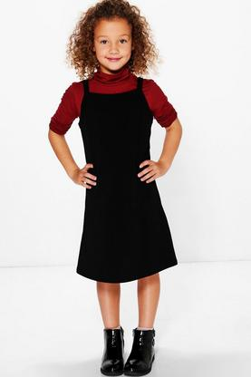 Girls Polo Neck And Dress Set