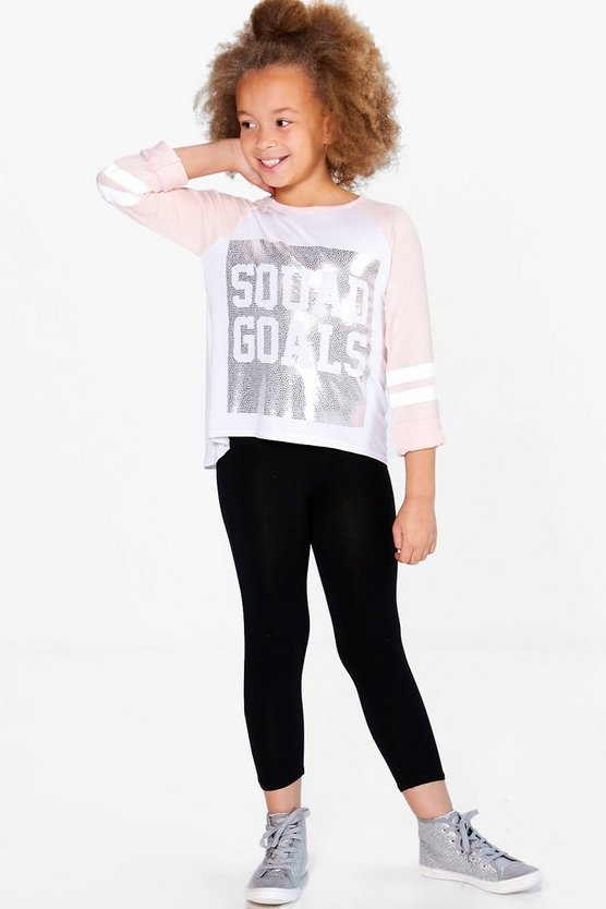 Girls Squad Goals Tee And Legging Set