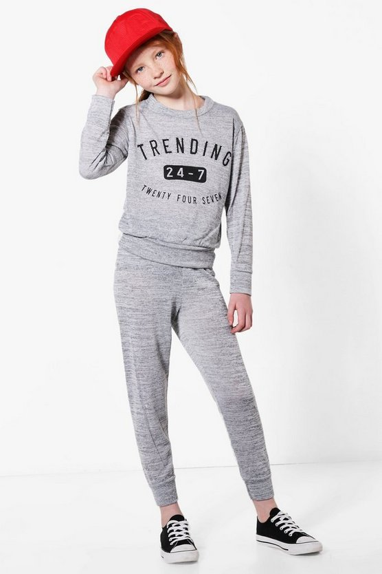 Girls Trending Knitted Tracksuit