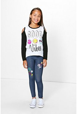 Girls Good Vibes Tee And Legging Set
