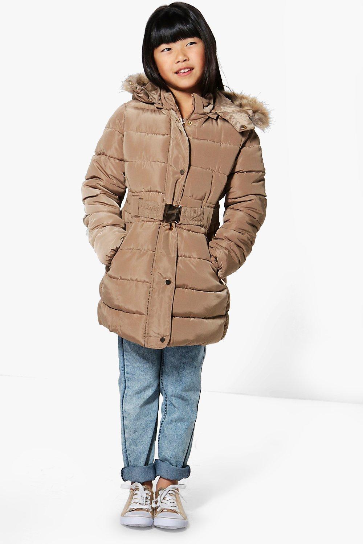 Girls Fully Padded Winter Coat   Boohoo