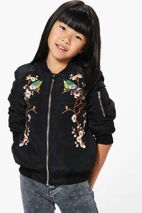 Girls Boutique Embroidered Bomber