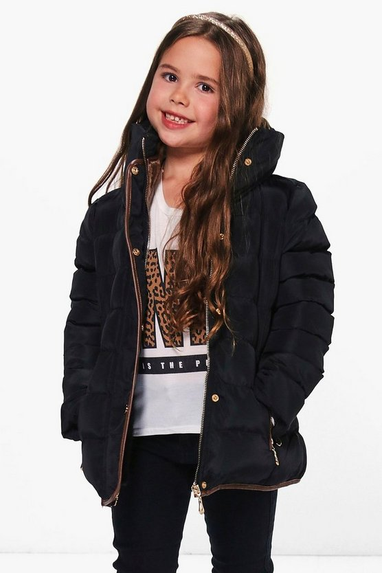 Girls Padded Puffer Jacket