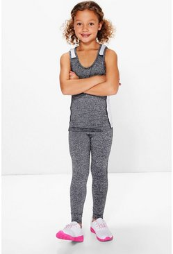 Girls Sports Top And Legging Set