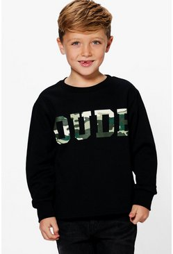Boys Camo Sweat Jumper