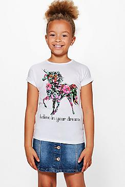 Girls Turn Back Cuff Tee