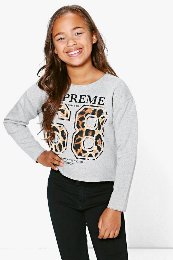 Girls 68 Leopard Sweat Top
