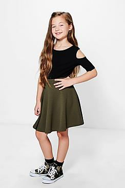 Girls Textured Skater Skirt