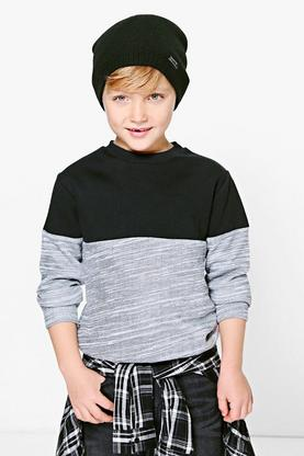 Boys Contrast Sweat Top